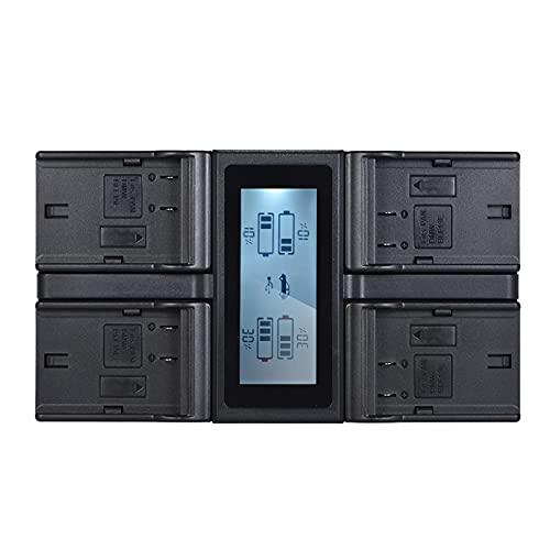 Carregador, DMW-BLF19E Carregador de bateria para câmera digital LCD de 4 canais compatível com Lumix DC-GH5 DMC-GH3 DMC-GH3K DMC-GH4 DMC-GH4K Pana-sonic