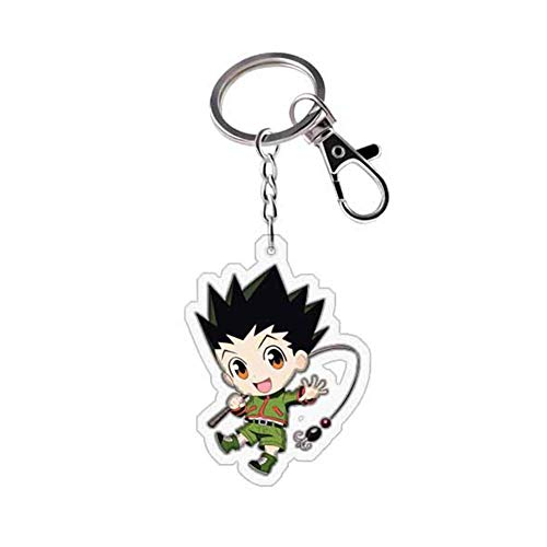 Iwinna Anime Hunter X Hunter Metal Acrylic Keychain, Cute Keyring for Anime Fans(Multicolor(style01))