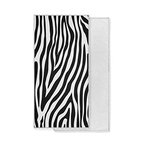 Funnyy Lustiges Handtuch mit Tier-Zebra-Motiv, saugfähig, schnelltrocknend, Waschlappen für Fitnessstudio, Sport, Badezimmer, Reisen, Spa, Schwimmen, Workout (76,2 x 38,1 cm)