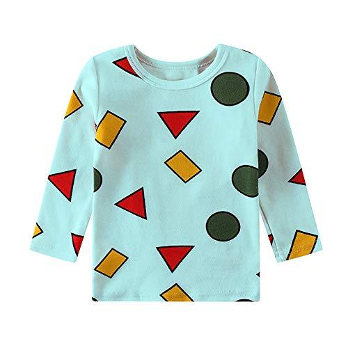 Schlafanzug für Babys, Jungen, Cartoon-Aufdruck, Oberteil und Hose, Schlafanzug, Nachtwäsche, Weihnachtsoutfit Gr. Small, blau