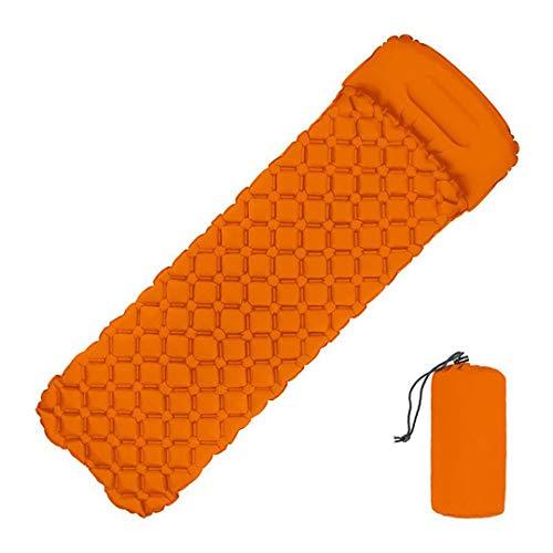 Colchón Inflable para Exteriores, colchón para Dormir para Acampar, colchón/colchoneta de Aire Ultraligero, liviano para Viajes y al Aire Libre (Orange)