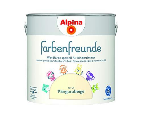 Alpina Farbenfreunde 2,5L Kinderzimmerfarbe Wandfarbe (Kängurubeige)