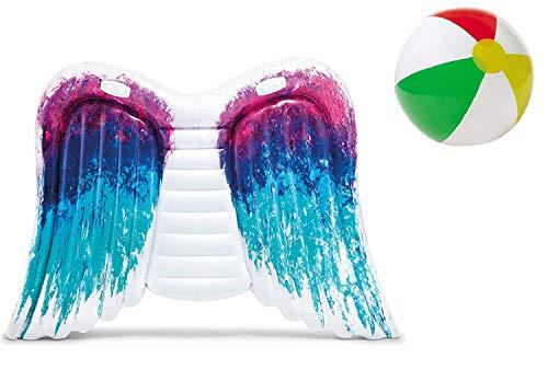 Aufblasbare Luftmatratze XL Matratze Badematratze Schwimmmatratze Lounger Engelsflügel Badeinsel Grün Luftmatratzen Motiv für Wasserspielzeug, Strand, Kinder, Sonnen, Pool , Erwachsene Meer Deko