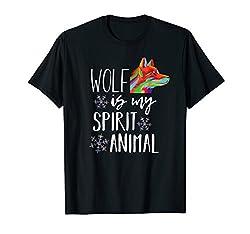 Wolf Is My Spirit Animal | Cute Wolf Shirt Wolves Shirt