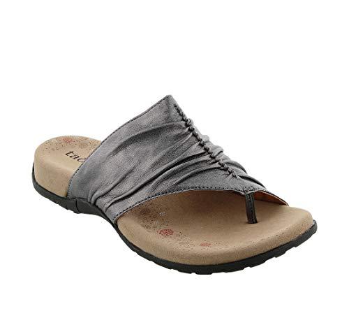 Taos Footwear Women's Gift 2 Pewter Sandal 9 M US