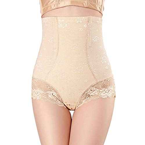 Women Butt Lifter Shapewear Pack of 3, Women Body Shapewear Best Slim Waist Trainer Corset High Waist Butt Lifter Tummy Control Panty Waist Trainer Body Shaper (Color : Nude, Size : XL)
