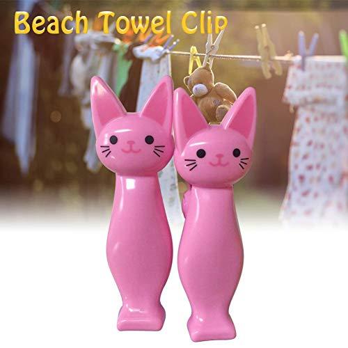 iBoosila Toalla de Playa Clip Kitty Shaped Robusta Quilt Toalla Clip plástico 1pcs Decent Bearable