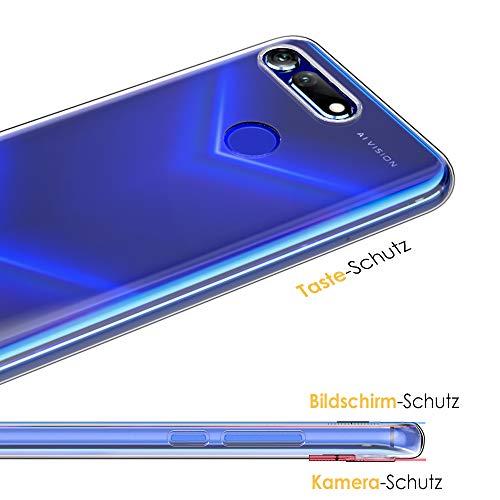 Beetop Huawei Honor View 20 Hülle Schutzhülle Ultradünn Handyhülle Transparent Weiche Silikon TPU Rückschale Case Cover für Huawei Honor View 20 - Durchsichtig - 2