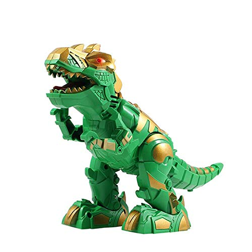 IUUWTMV Dinosaur Toy LED Light Up Walking Dinosaur Realistic T-Rex Robot Dinosaur Robot, with Lights, Can Walking, Roaring, for Toddlers Kids Boys Girls