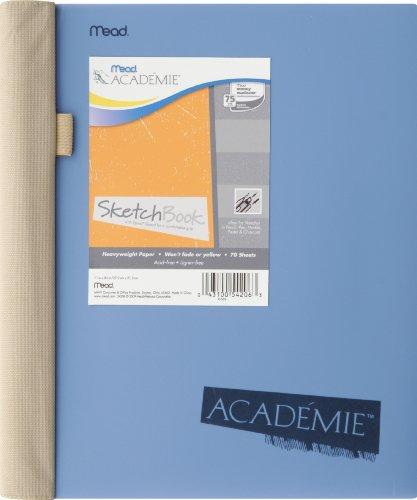 Academie Wirebound Sketch Diary with SpiralGuard, Blue, 11 x 8.5 Inches (54206)