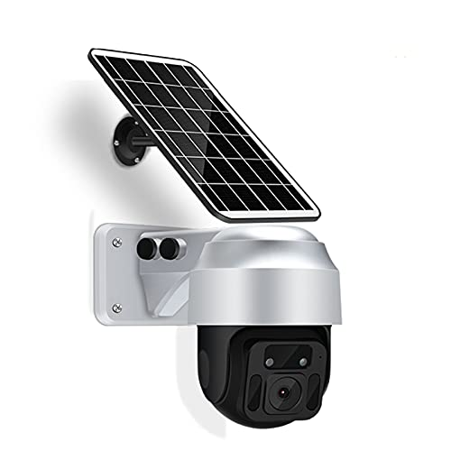 Telecamera WiFi da esterno, telecamera wireless PTZ 1080P per visione notturna, rilevamento del movimento, audio bidirezionale, telecamera ad energia solare per la sicurezza domestica