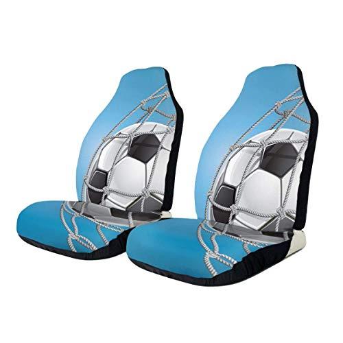 Drew Tours Autositzbezüge Fußballtor Fußballgewinnendes Schutzkissen Universeller Schalensitzbezug Für die meisten Autos LKW SUV Van