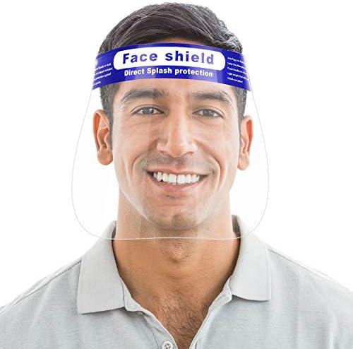 30 Pcs Reusable Face Shield Wattne Plastic Safety Face Shield Adjustable Transparent Full Face product image