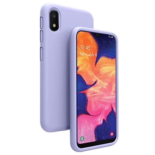 Vinve Liquid Silicone Case for Samsung Galaxy A10e, Gel Rubber Full Body Protection Shockproof Cover Slim Fit Case Drop Protection Case (Purple.)