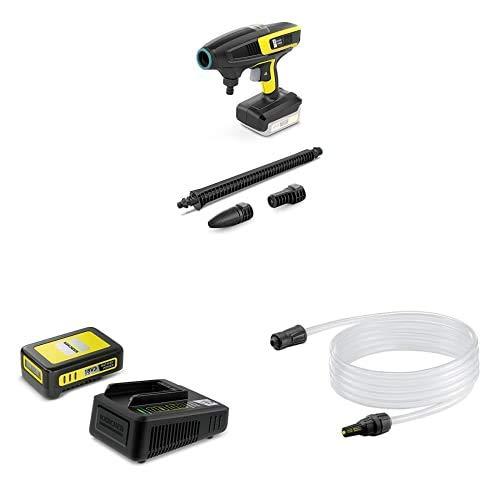 """Kärcher Druckreiniger KHB 6 Battery Outdoor Kit (Akku: 18 V / 2,5 Ah, Druck: 24 bar, Flachstrahldüse, Rotordüse, Gartenschlauchanschluss A3/4\"""", Gewicht: 1,3 kg, Wasserfilter)"""