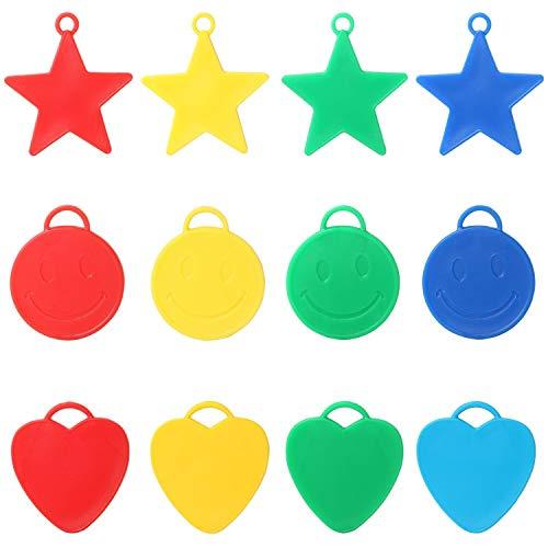 TRIXES Gewichte für Helium Ballons in 20 verschiedenen Formen und Farben Sterne Herzen Smileys für Kinder Partys feiern und Feste