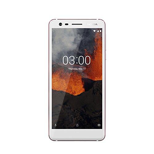 Nokia Nokia 3.1 Versione 2018, fotocamera grandangolare, Android 8.0, corpo in alluminio, Dual SIM, Bianco/Ferro