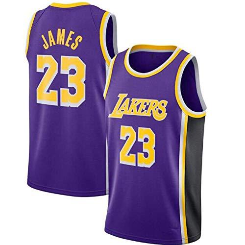 QAZWSX Los Angeles Lakers 23 Uniforme de Baloncesto Lebron James Summer Sports Jersey, Uniformes de baloncesto para adultos, camiseta de baloncesto, Europa y América, Hombre, color Morado (, tamaño M