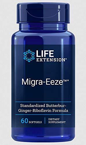 Life Extension, Migra-Eeze, mit Riboflavin und Pestwurz, 60 Weichkapseln, glutenfrei