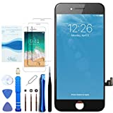 for iPhone 7 Plus Screen Replacement Black 5.5 Inch LCD Display with 3D Touch Screen Digitizer Frame Full Assembly Include Reliable Free Repair Tools Kit+Instruction+Screen Protector (7Plus Black)