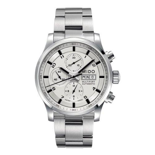 Mido Herren-Armbanduhr XL Multifort Chronograph Automatik Edelstahl M0056141103701