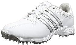 adidas 360 Traxion, Unisex Kids Golf Shoes, Black (Core Black / White / Iron Met), Gr. 37 1 / 3 EU (4.5 UK)