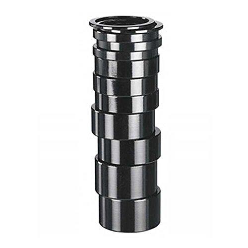 Spacer ALU 1 1/8 schwarz 5 mm