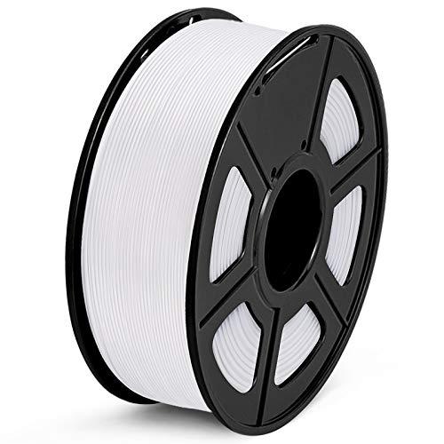 SUNLU Filamento PETG 1.75mm 1kg Impresora 3D Filamento, Precisión Dimensional +/- 0.02 mm, PETG Blanco
