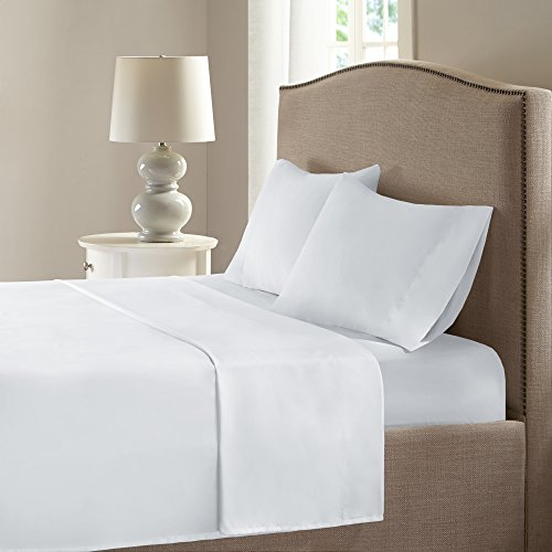Comfort Spaces Coolmax Moisture Wicking Bed Cooling Sheets for Night Sweats, Cal King, White
