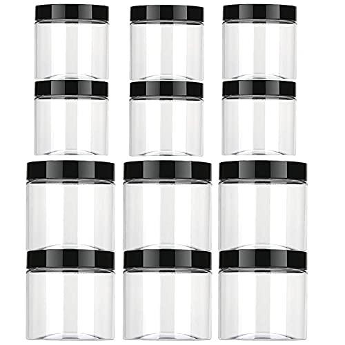 Aoligei 12er Vorratsdosen Set, Vorratsdosen Küche Aufbewahrungsbox Küche mit Luftdichtem Deckel Frischhaltedosen aus Kunststoff BPA frei Vorratsdosen um Lebensmittel frisch zu halten