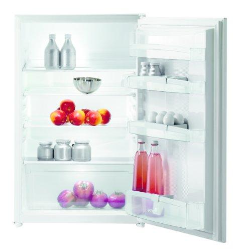 Gorenje RI4091AW Einbau-Kühlschrank / A+ / 127 kWh/Jahr / 145 L Kühlteil / 3 Glasabstellflächen, davon 2 höhenverstellbar / 1 Obst- und Gemüsebehälter / weiß