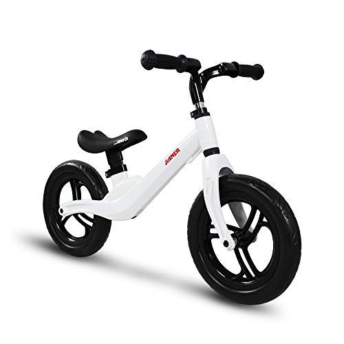 """COEWSKE 12 """"Balance Bike Magnesium Alloy No Pedal Walking Balance Entrenamiento Bicicleta para niños y niños de 2 a 5 años (Blanco)"""