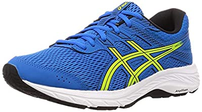 Asics GEL-CONTEND 6, Men's Running Shoes, Directoire Blue/Neon Lime, 7.5 UK (42 EU)