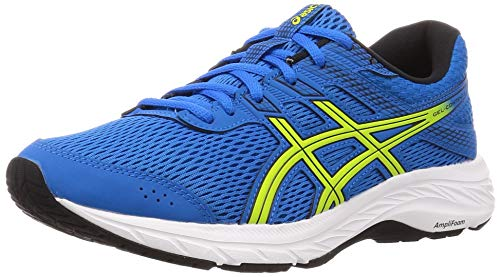 Asics Gel-Contend 6, Running Shoe Mens, Directoire Blue/Neon Lime, 42 EU