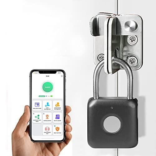 Anweller Mini Smart Lucchetto con impronte digitali, lucchetto biometrico; per Gym Locker, Shed Locker, unità di stoccaggio, bagagli, valigia (nero)