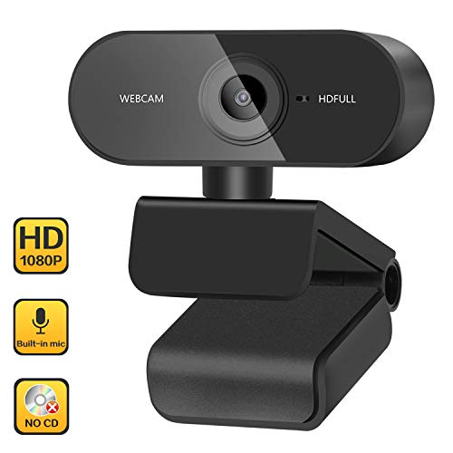 ZasLuke Webcam, 1080P HD USB Web...