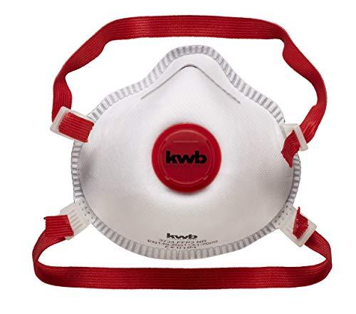 Einhell 49373410 - FFP3 | Máscara de polvo con válvula y filtro de proteccion, color Blanco