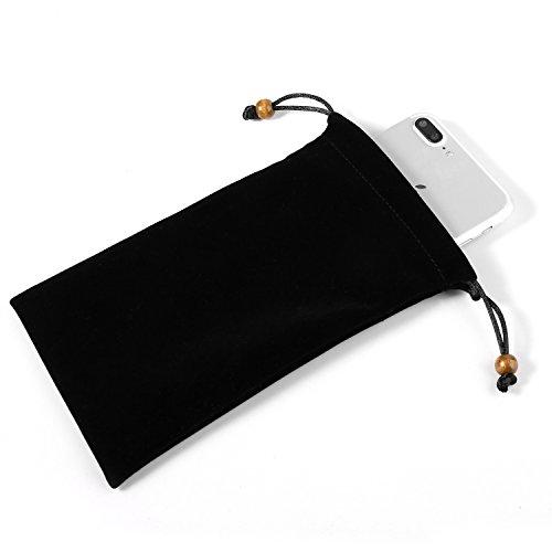Universal Vertikal Schutz Sleeve Tasche für Apple iPhone X/78Plus/Samsung Galaxy S9+ s9S8+ s8/S8Active/on7Prime/J7Prime 2/A8A8+ A5A7J5J7/HTC Desire 12/U11+, schwarz