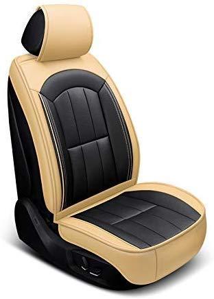 KBZW stoelbekleding voor kinderwagen, vooraan achterzijde, 5 zitplaatsen, volledige set, universeel leer, vier seizoenen, airbag-pads, compatibel met waterdichte stoelhoezen