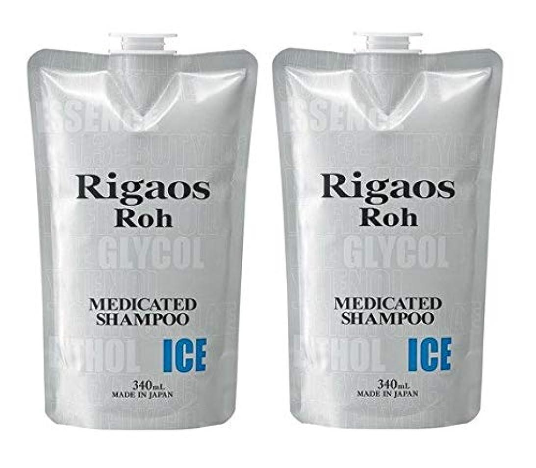 迷路逆説ウルル【2個セット】リガオス ロー 薬用スカルプケア シャンプー ICE レフィル (340mL)