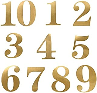 StayMax Wedding Party Number Stickers for Table Card Accessories Decorative self-adhensive Number Sticker Gold Number 1-20