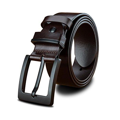 LUCIANO Top Italia Cinturón de cuero genuino Cinturón de