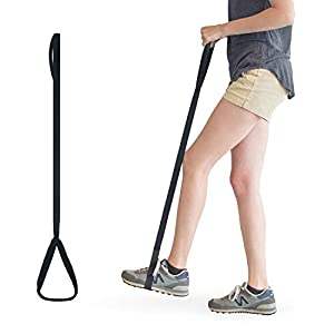 RMS 35 Inch Long Leg Lifter - Durable & Rigid Hand Strap & Foot Loop - Ideal Mobility Tool for Wheelchair, Hip & Knee Replacement Surgery (35 Inch Long)