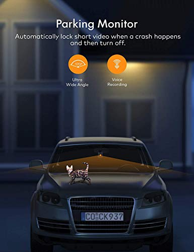 APEMAN 2K Dual Dash Cam C880, Front and 1080P Inside Car Driving Recorder, Sony IR Night Vision for Taxi Driver, 170° Wide Angle, WDR, G-Sensor, Parking Monitor, Loop Recording, Support GPS 128GB Max