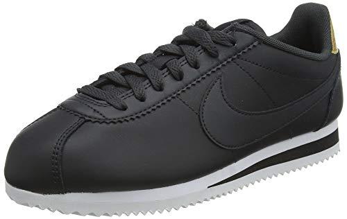 Nike Classic Cortez, Zapatillas de Running Mujer, Off Noir/Off Noir/Black/Metallic Gold, 37.5 EU