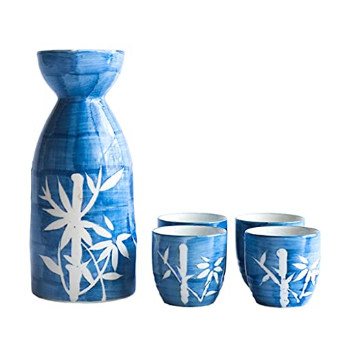 ZJXGW Steke Sirviendo Set Planeado Impreso PORCELANO Hecho A Mano De Porcelana Sake Cups Copas De Porcelana Botella De Porcelana Para Beber (Size : B)