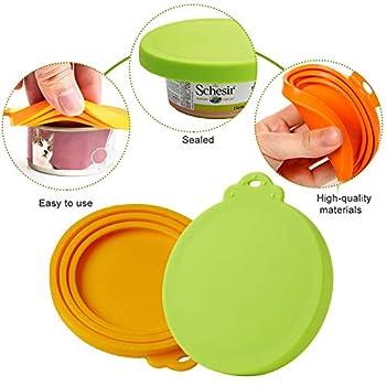 Toulifly Coque en Silicone pour Animal Domestique, Couvercles Silicone de Conserve pour Chien Chat Couvercles Alimentaire Universels pour Nourriture en boîte de Animal Chien Chat (Pattern 1)