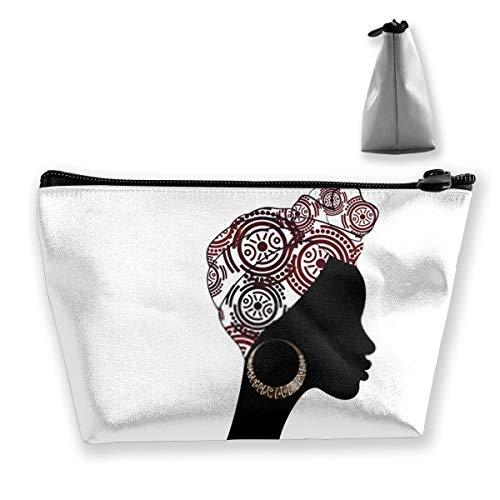 Beau portrait africain Shenbolen Ankara Sac de toilette multifonction pour femme
