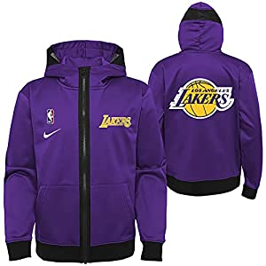 56% Polyester/44% Cotton Embroidered graphics Dri-FIT technology wicks away moisture Full zip, Two front pockets, Mesh panel insert in hood Officially licensed NBA product