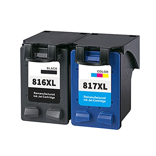 YXYX Compatible con HP 816 817 Cartucho de tóner de repuesto para HP Deskjet 1218 2128 2368 2468 2288 2188 3500 3658, impresión estable